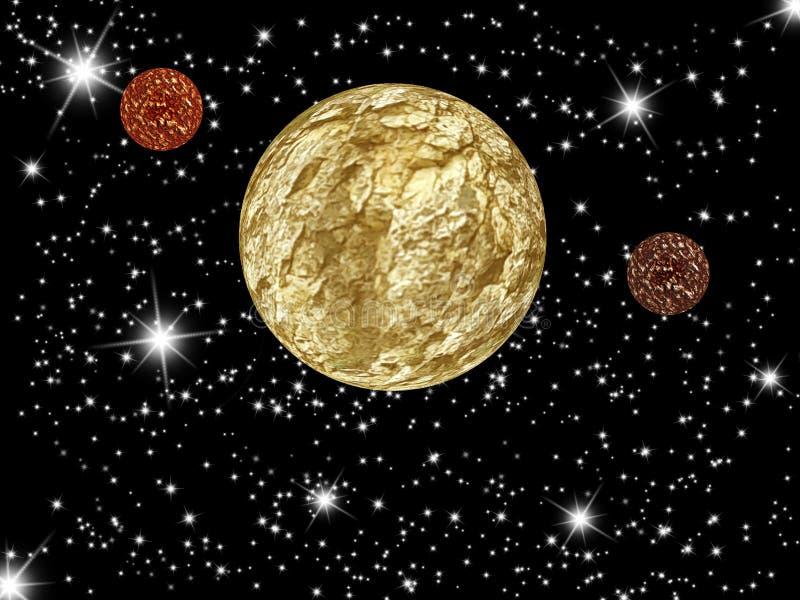 Planeta de la galaxia ilustración del vector