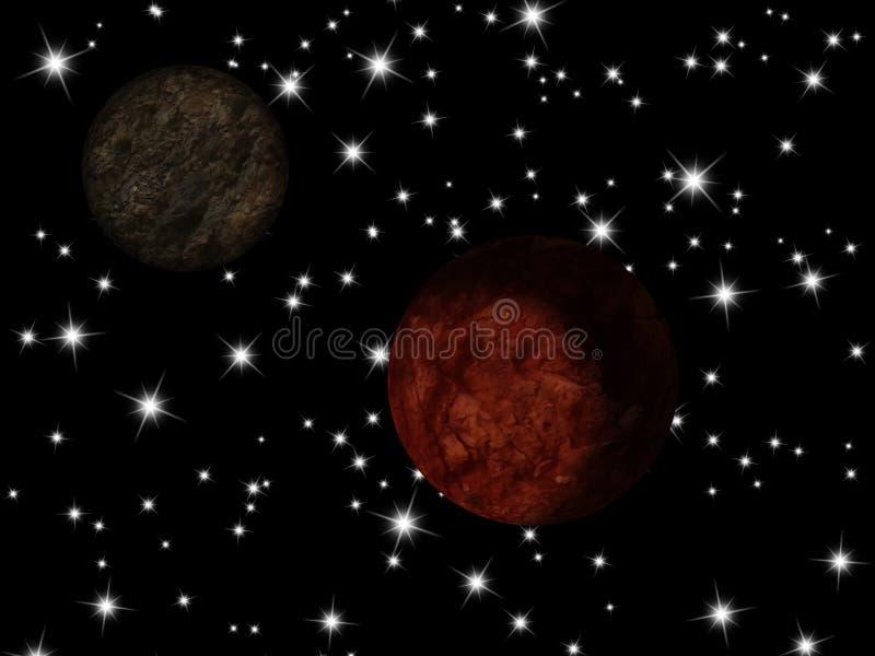 Planeta de la galaxia stock de ilustración