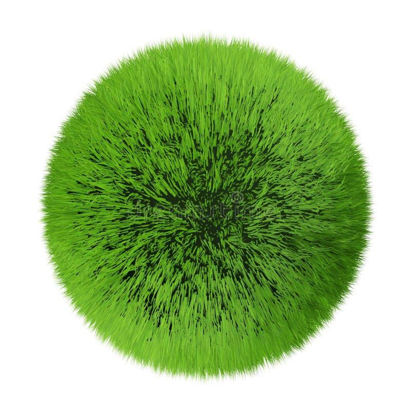 Planeta de la hierba ilustración del vector