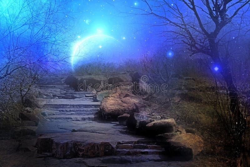 Planeta de la luna azul fotos de archivo libres de regalías