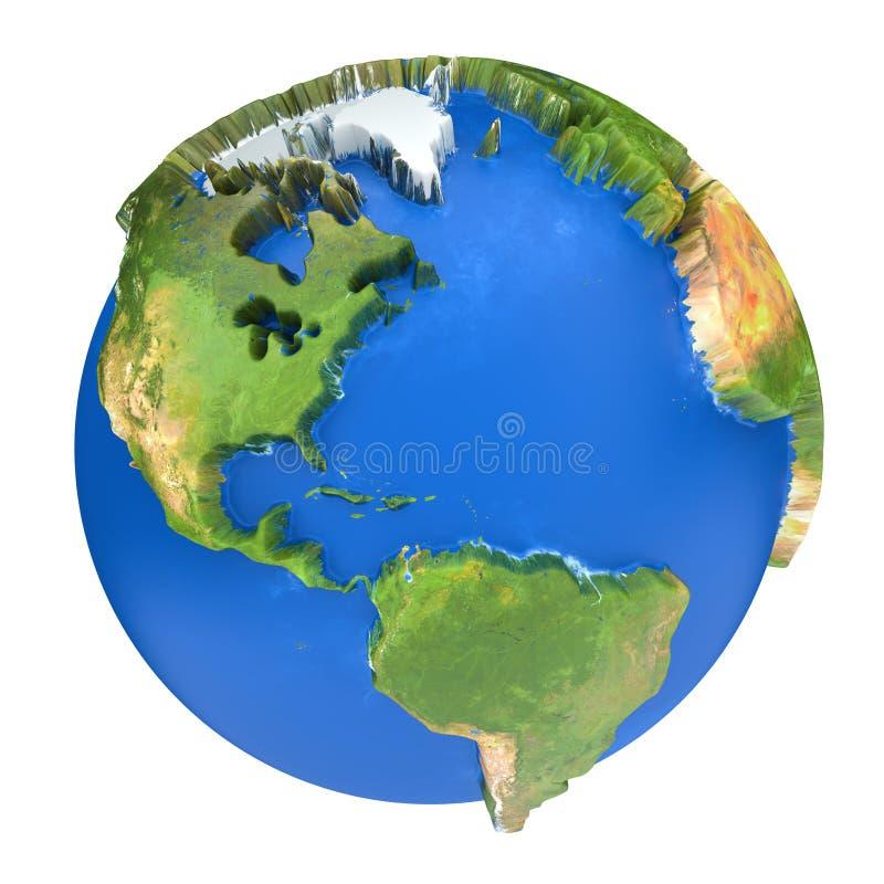 Planeta de la tierra La textura de la tierra de esta imagen equipada por la NASA libre illustration