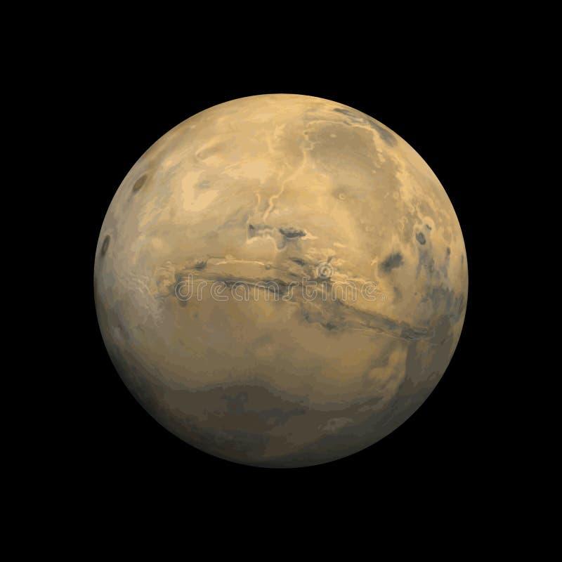 Planeta de Marte ilustração stock