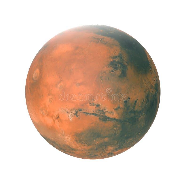 Planeta de Marte en blanco ilustración 3D stock de ilustración