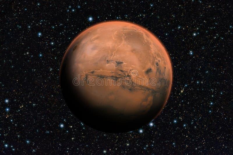 Planeta de Marte más allá de nuestra Sistema Solar ilustración del vector