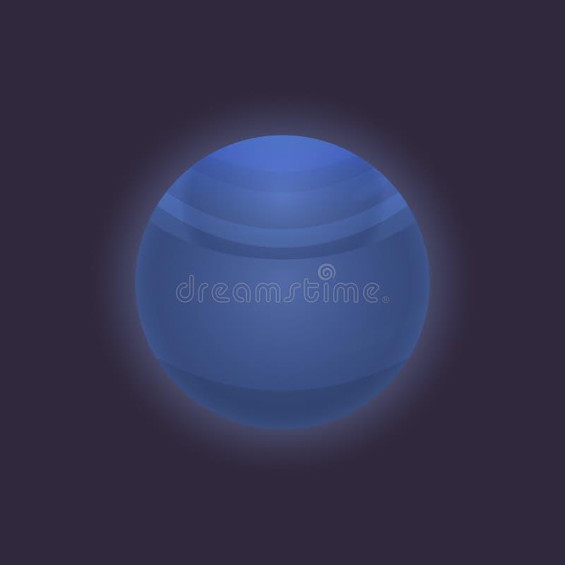 Planeta de Netuno no ícone do espaço profundo ilustração do vetor