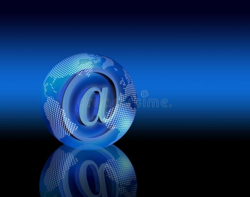 Planeta del email de Digitaces stock de ilustración