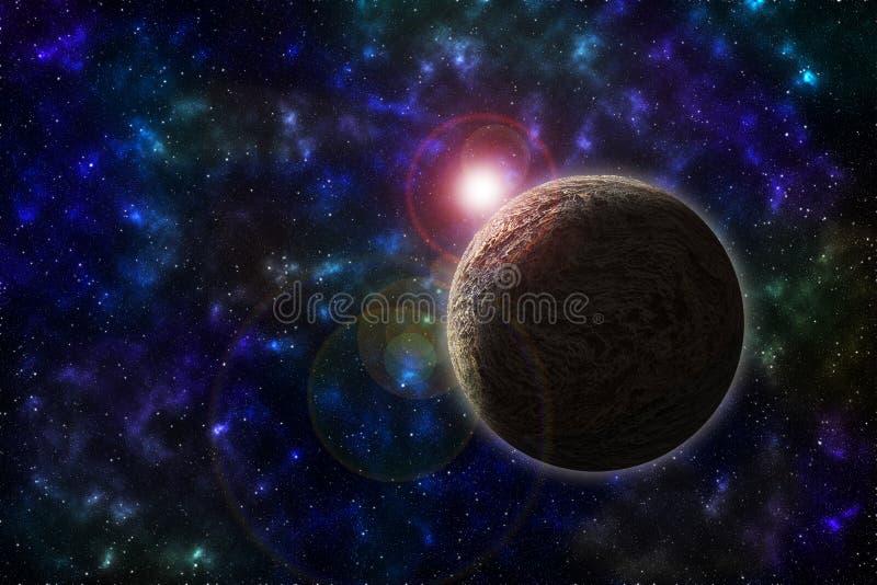 Planeta del espacio profundo imágenes de archivo libres de regalías