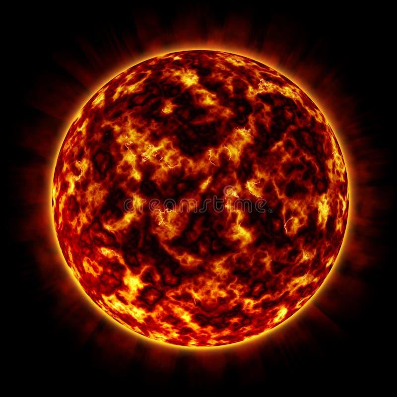 Planeta del fuego (anaranjado) stock de ilustración
