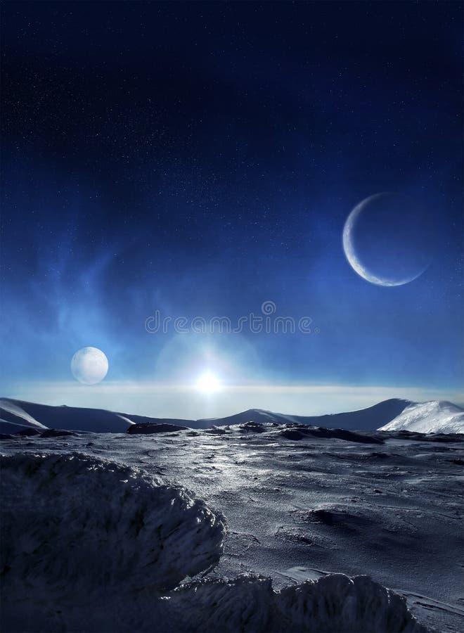 Planeta del hielo foto de archivo