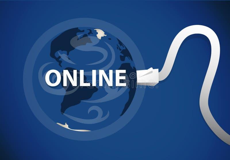 Planeta del web stock de ilustración