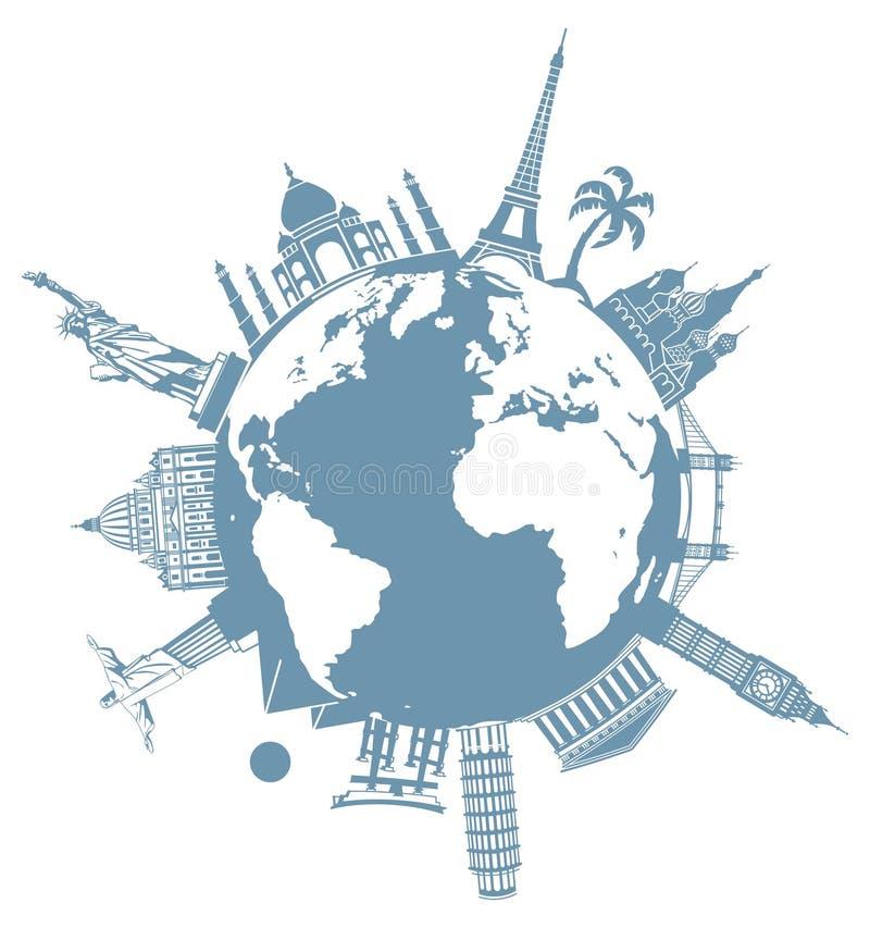 Planeta do curso ilustração royalty free