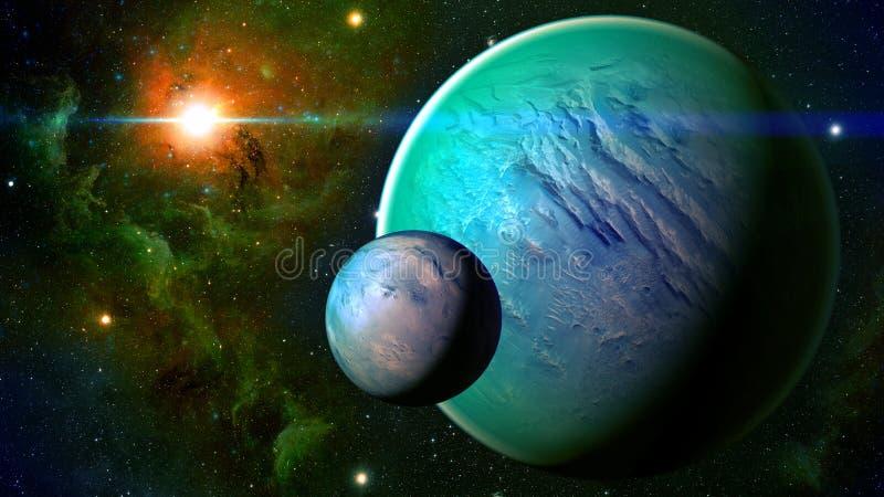 Planeta do espaço imagem de stock royalty free