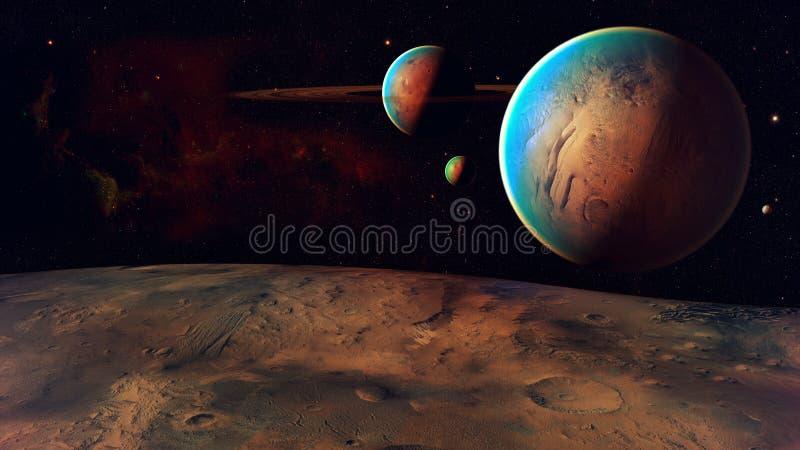 Planeta do espaço imagem de stock