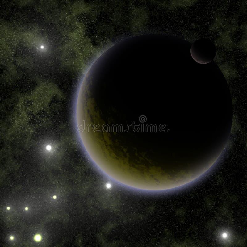 Planeta do estrangeiro de Brown ilustração royalty free