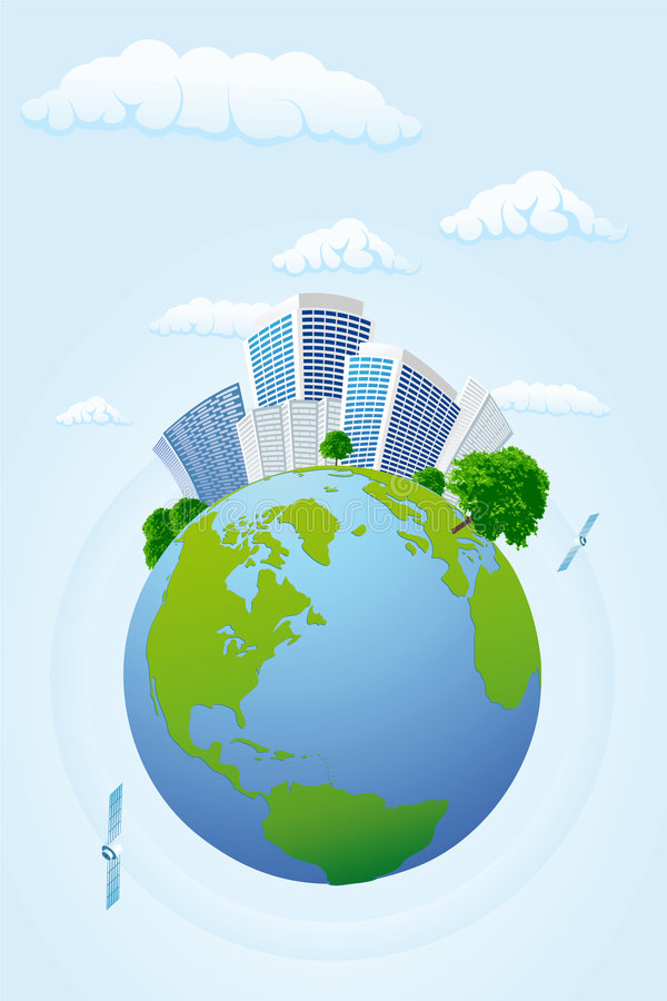 Planeta do negócio ilustração stock