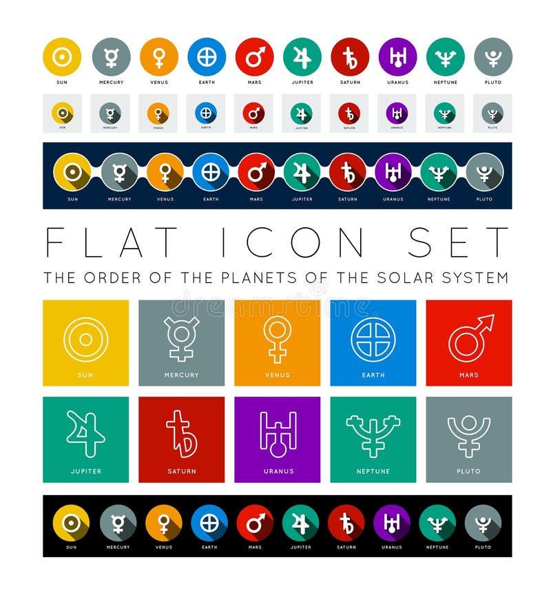 Planeta do sistema solar ilustração royalty free