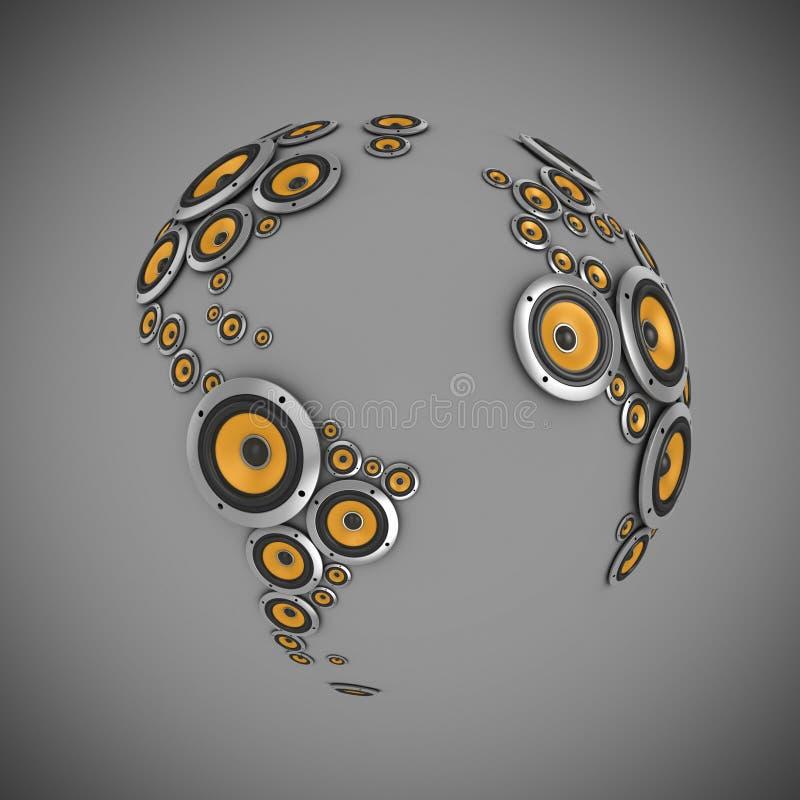 Planeta do som ilustração stock