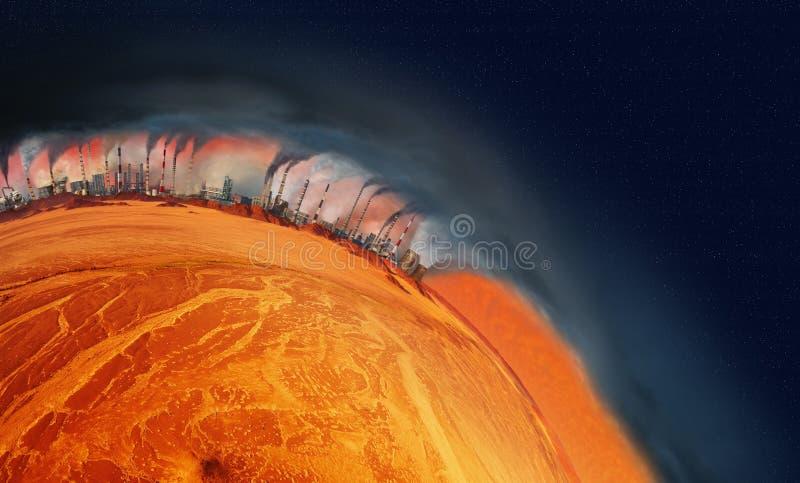 Planeta do superaquecimento ilustração royalty free