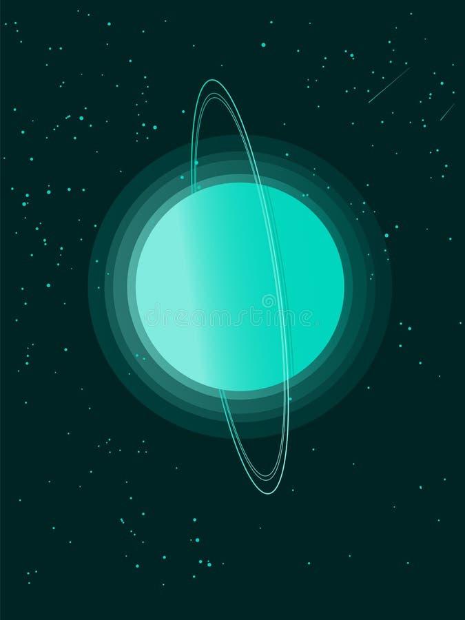 Planeta do Urano ilustração do vetor