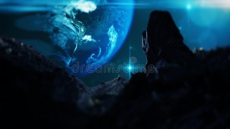 Planeta Extrasolar Espaço desconhecido distante Exoplanet distante no universo fotografia de stock royalty free