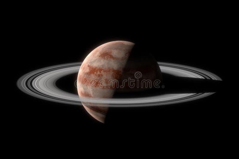 Planeta gigante do gás com anéis ilustração royalty free