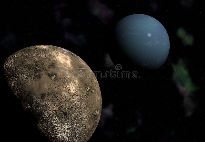 Planeta gigante Neptuno. stock de ilustración