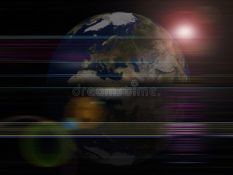Planeta global de la tierra de las series del fondo stock de ilustración