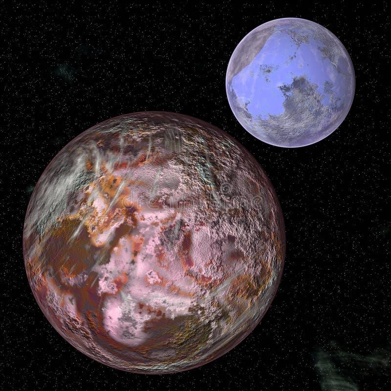 Planeta grande en el espacio 2 ilustración del vector