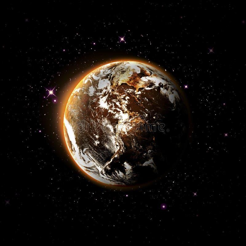 Download Planeta i galaxy ilustracji. Ilustracja złożonej z eksploracja - 53779191