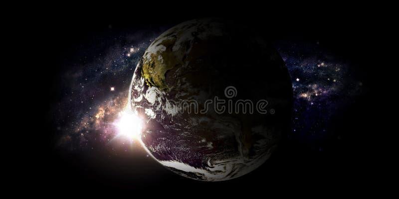 Download Planeta i galaxy ilustracji. Ilustracja złożonej z góra - 53779216