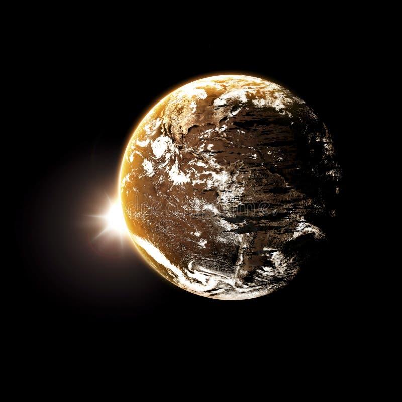 Download Planeta i galaxy ilustracji. Ilustracja złożonej z mgławica - 53779230