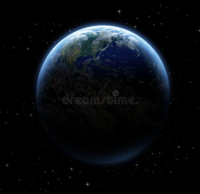 Download Planeta i galaxy ilustracji. Ilustracja złożonej z atmosfera - 53779257