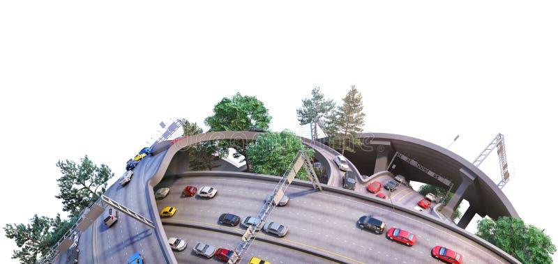 Planeta jako poj?cie dla chaotycznego miastowego ?ycia ilustracja 3 d ilustracja wektor