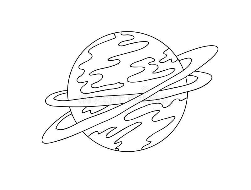 Planeta, linhas, vetor ilustração stock