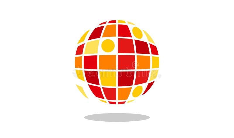 Planeta Logo Design do pixel ilustração stock