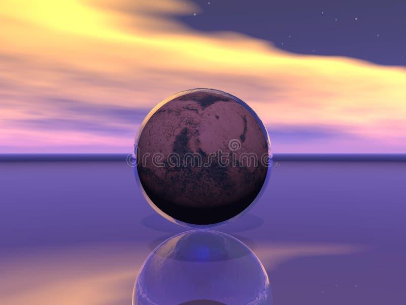 Planeta mąci i woda royalty ilustracja