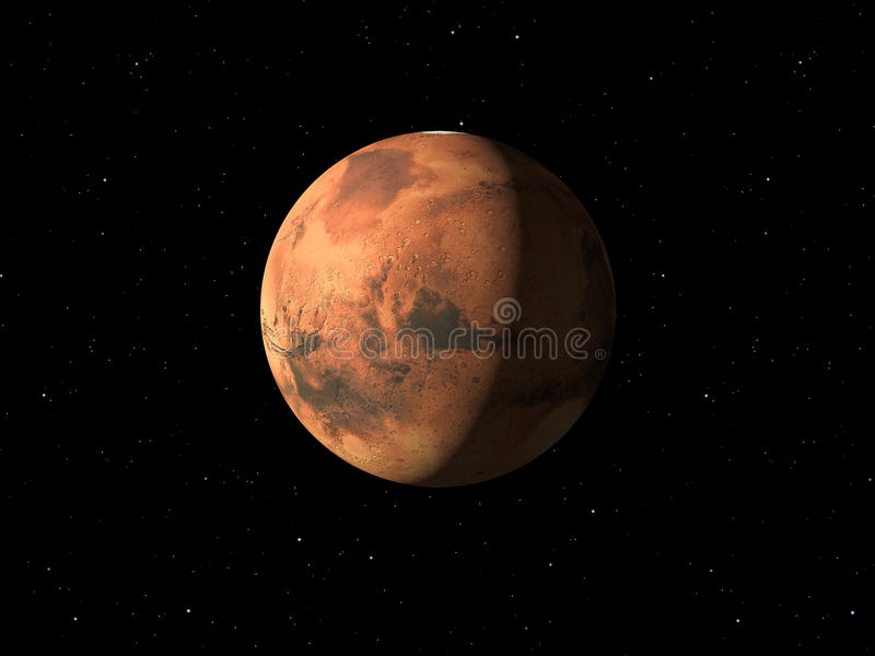 Planeta Mars robić z teksturami ilustracji