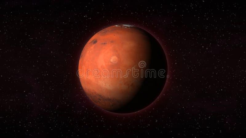 Ilustração Gratis Espaço Todos Os Universo Cosmos: Planeta Marte Em Um Fundo Das Estrelas Ilustração Stock