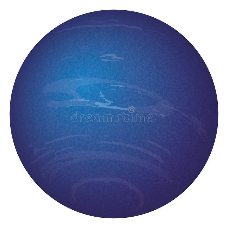 Planeta Netuno, isolado no branco ilustração royalty free