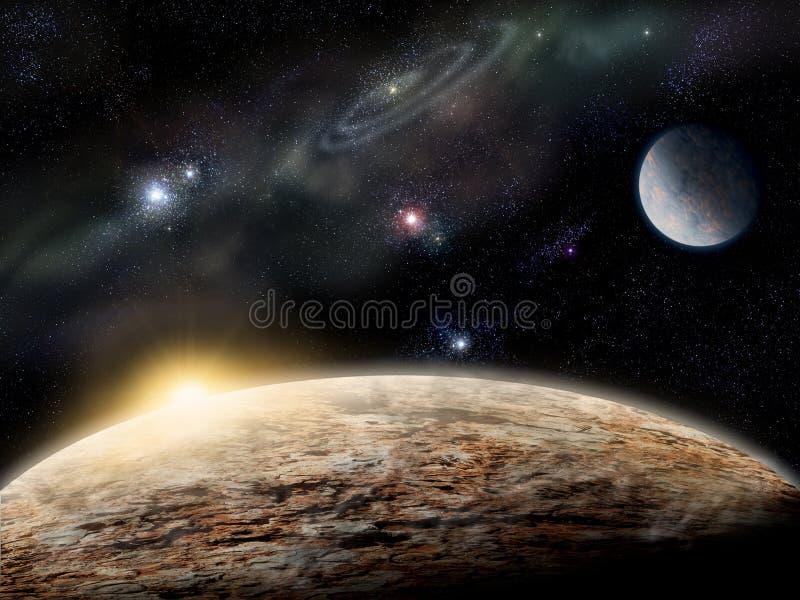 Planeta no espaço imagem de stock royalty free