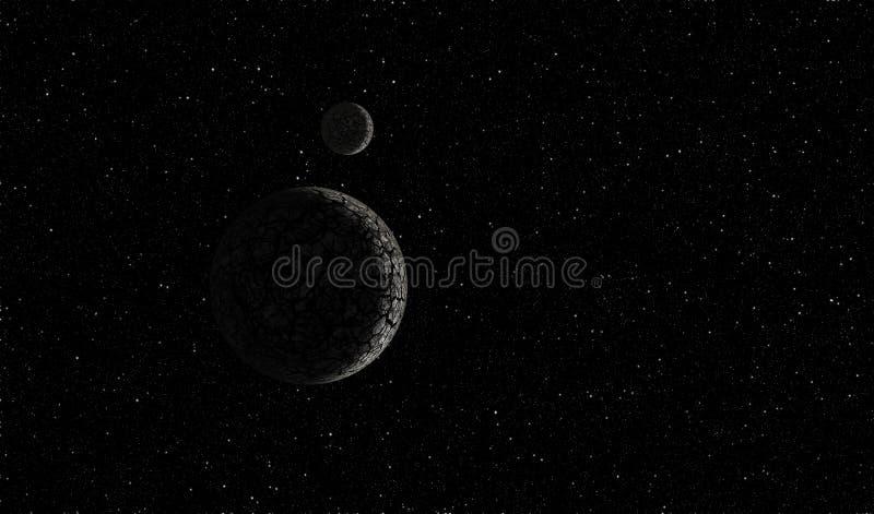 Planeta no espaço ilustração stock
