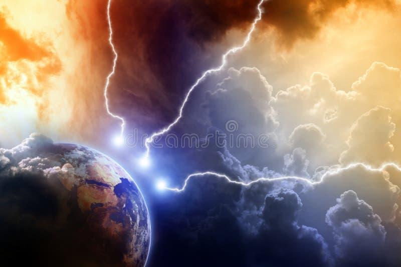 Planeta no perigo ilustração royalty free