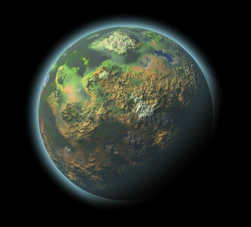 Planeta originado en ordenador stock de ilustración