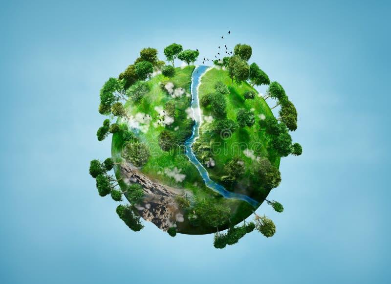 Planeta pequeno ilustração royalty free