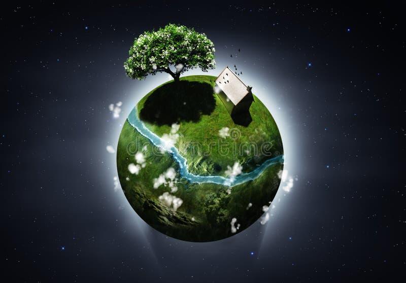 Planeta pequeno ilustração stock