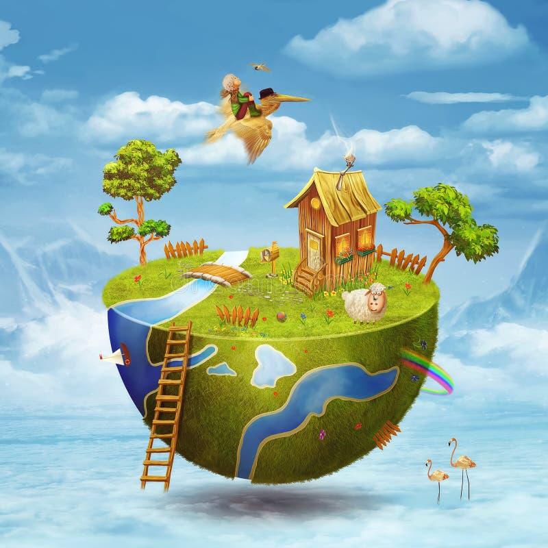 Planeta pequeno ilustração do vetor