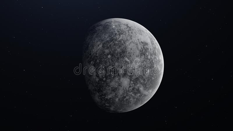 Planeta realístico Mercury do espaço ilustração 3D ilustração do vetor