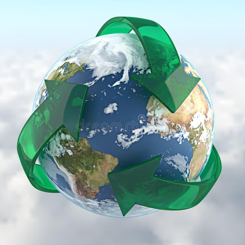 Planeta recicl ilustração royalty free