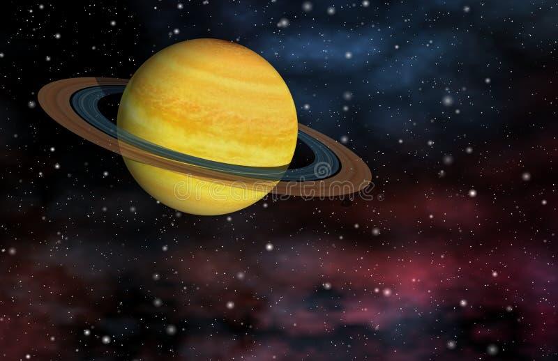 Planeta rodeado ilustração do vetor