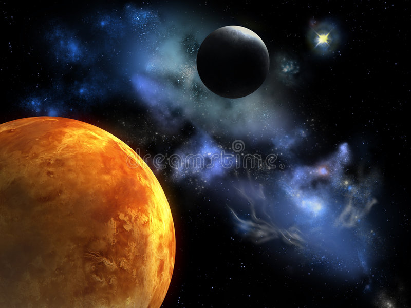Planeta rojo ilustración del vector